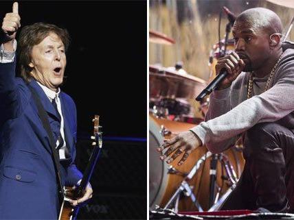 Kaum zu glauben, aber wahr: Kanye West und Paul McCartney haben sich (musikalisch) gefunden.