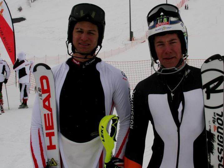 Johannes Strolz (links) gewinnt und wird Dritter.