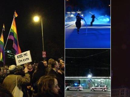 Im Jänner berichteten die Leserreporter unter anderem von einer Kuss-Demo, einer Rauferei und der Eistraum-Eröffnung.