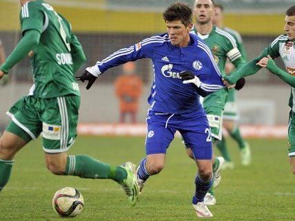Rapid hat das Testspiel gegen Schalke gewonnen.