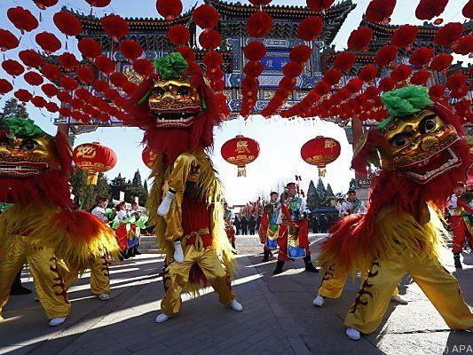 Neujahrsfeiern in Peking