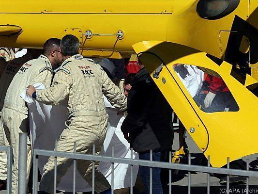 Alonso wurde nach dem Unfall ins Krankenhaus geflogen