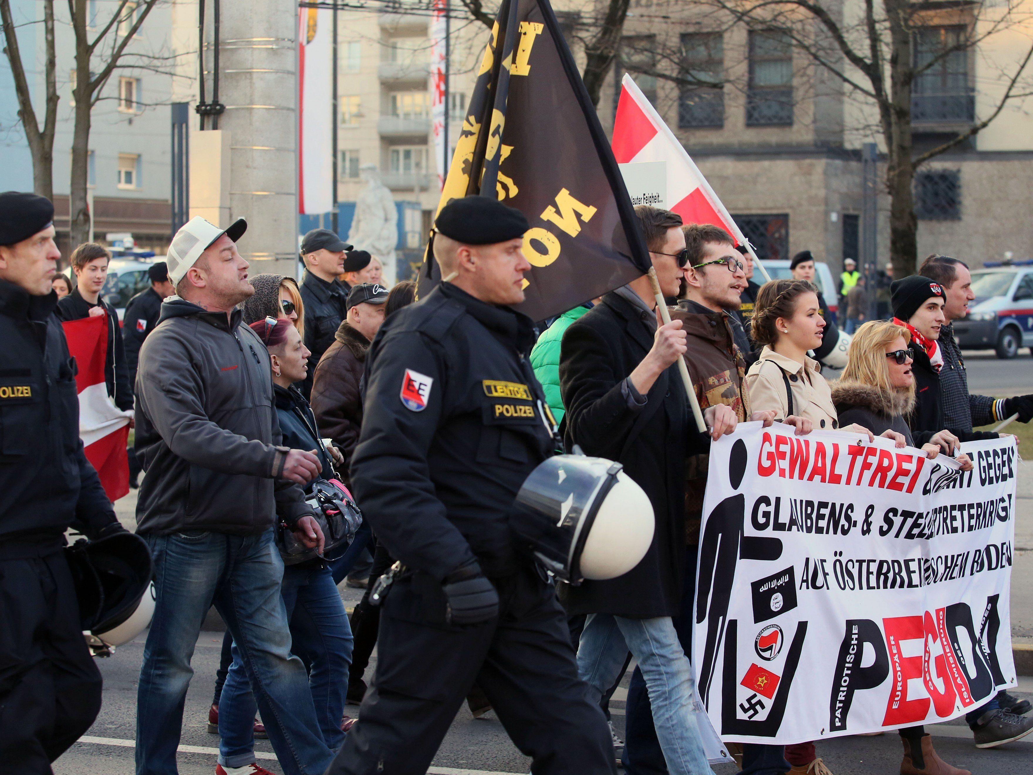 Am Samstag fand die zweite Pegida-Kundgebung in Linz statt.