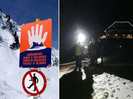 Derzeit herrscht in NÖ vierlerorts Lawinengefahr - am Schneeberg wurde ein Tourengeher verschüttet und von der Bergrettung gerettet (r.)
