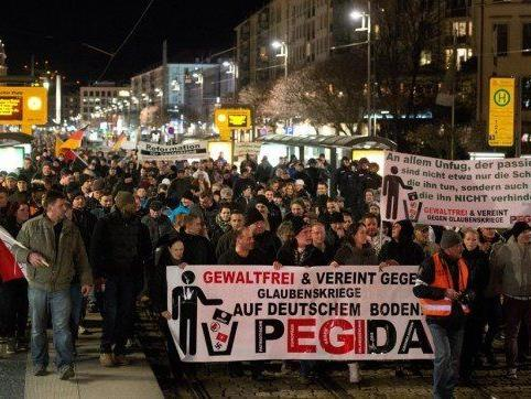 In Deutschland fanden Pegida-Demonstrationen teils regen Zulauf