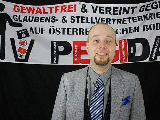 """Georg Immanuel Nagel dankt als Sprecher von """"Pegida Wien"""" ab"""