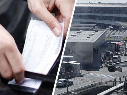Ein Falschparker am Wiener Flughafen reagierte ungehalten auf einen Strafzettel