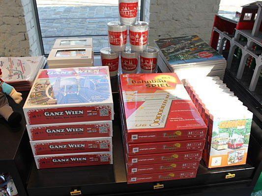 Diese Produkte bietet der Wiener Linien Shop - das Spiel ist doch bereits vergriffen