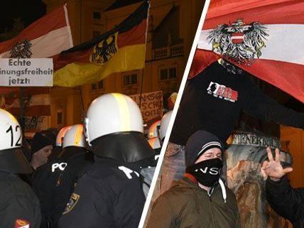 Pegida - Polizei beendet Kundgebung