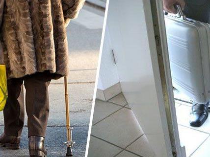 Ein Unbekannter trug einer Pensionistin die einkäufe nach Hause - und bestahl sie dort