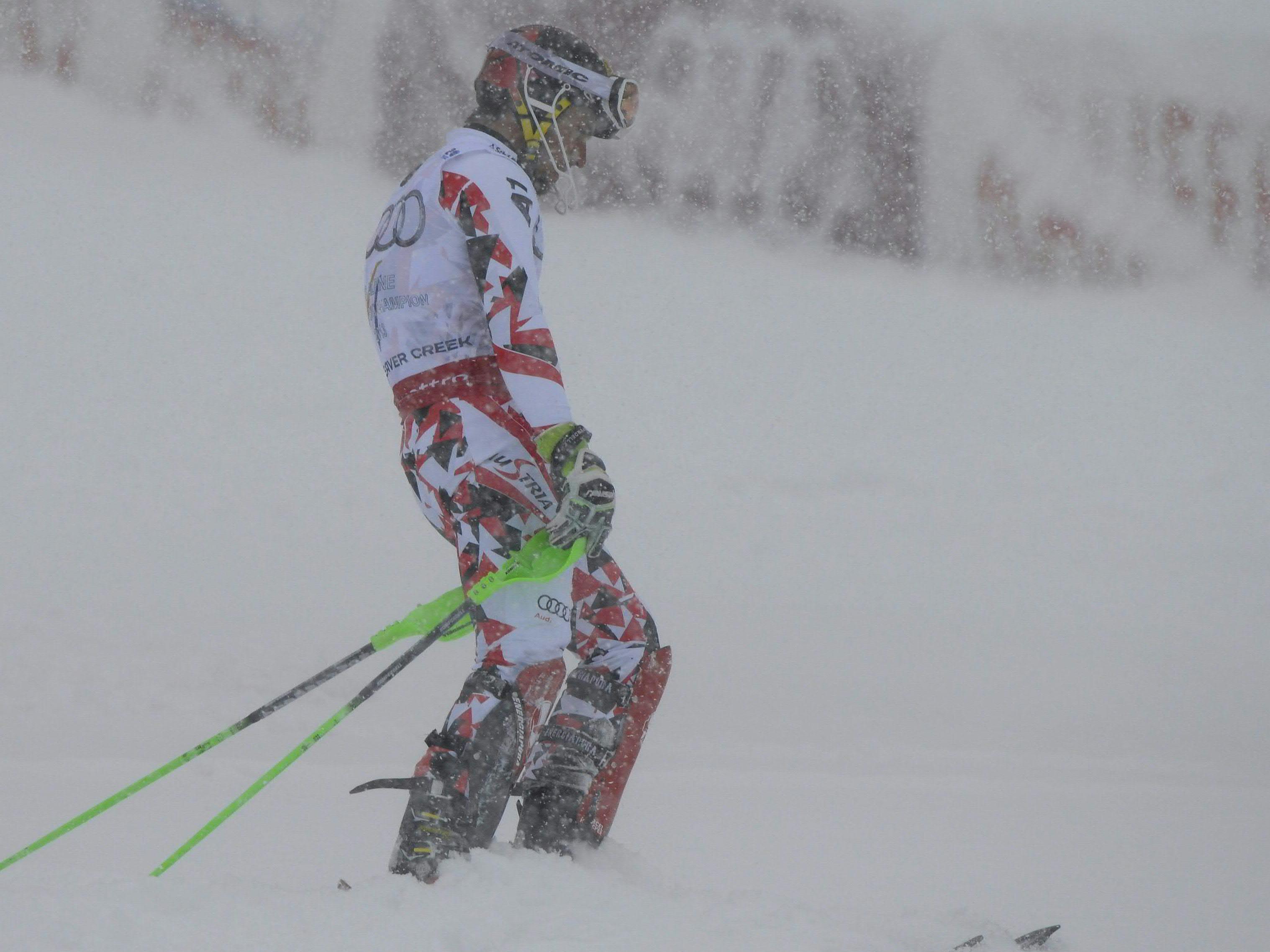 Traum von Slalom-Gold platzte für ÖSV-Superstar Hirscher im grenzwertigen Schneetreiben