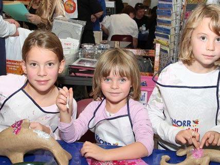 Auch für Kinder werden auf der Kreativmesse zahlreiche Workshops angeboten.