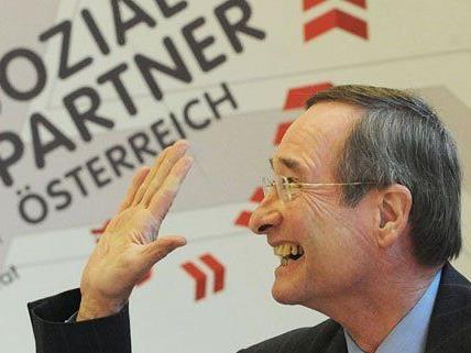 WK-Präsident Leitl kann sich über das Wahlergebnis in Wien freuen.