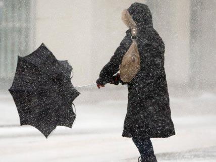 Der Schneefall in Wien sorgte für mehrere Unfälle.