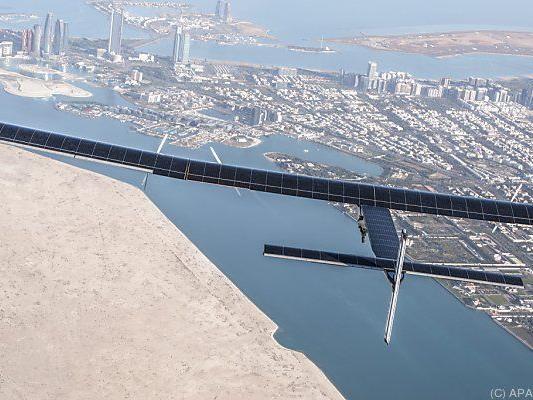 Solar Impulse 2 braucht beim Start günstige Windverhältnisse