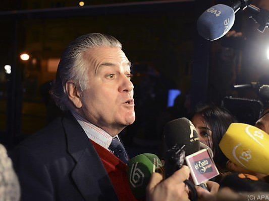 Luis Barcenas als ehemaliger PP-Schatzmeister im Mittelpunkt