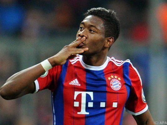David Alaba brachte Bayern per Freistoß in Führung