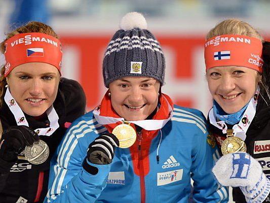 Jurlowa gewann vor Gabriela Soukalova und Kaisa Mäkäräinen