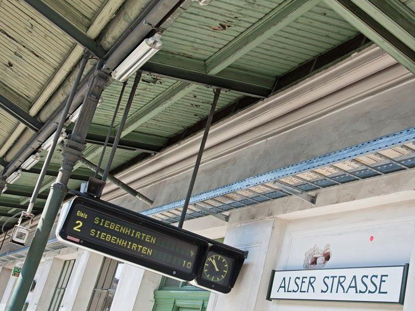 Die Sanierungen bei der Station Alser Straße gehen weiter.