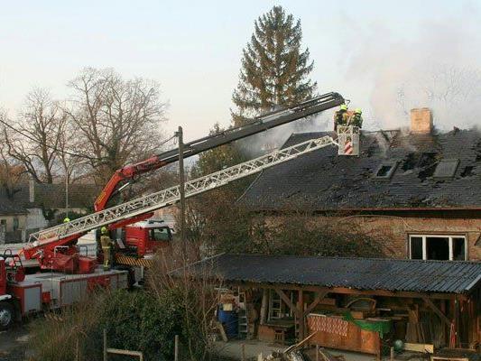 Bei dem Brand in Korneuburg soll mit Brandbeschleuniger nachgeholfen worden sein.