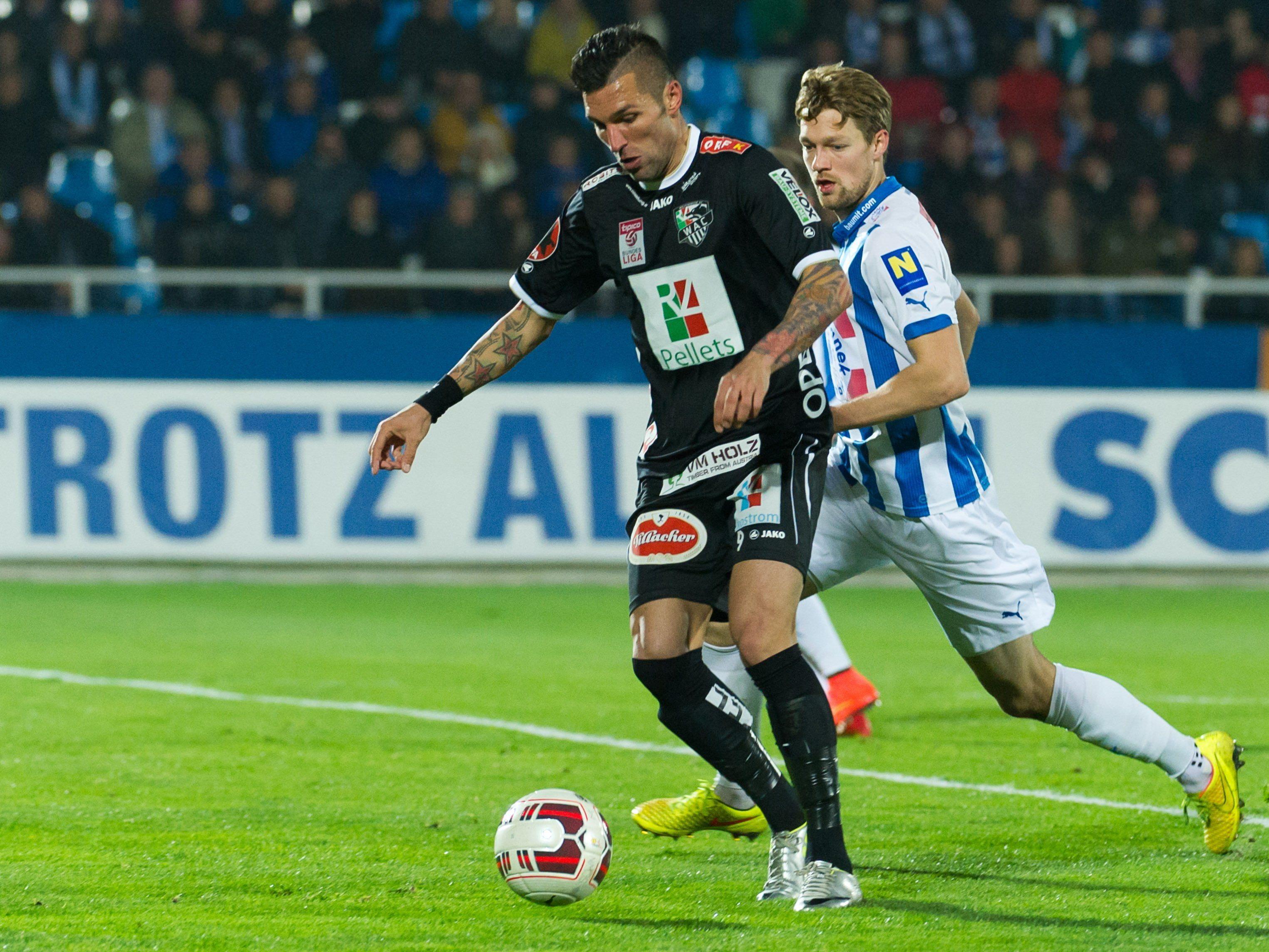LIVE-Ticker zum Spiel WAC gegen SC Wiener Neustadt ab 18.30 Uhr.