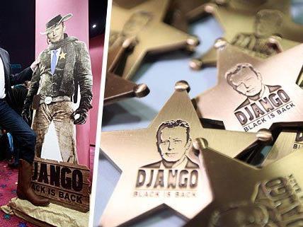 """Reinhold Mitterlehner am Dienstag im Rahmen des ÖVP-Kinoabends mit dem Film """"Django unchained"""" in einem Wiener Kino"""