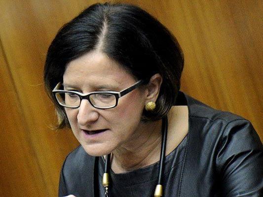 """Johanna Mikl-Leitner am Mittwoch bei der """"Aktuellen Stunde"""""""