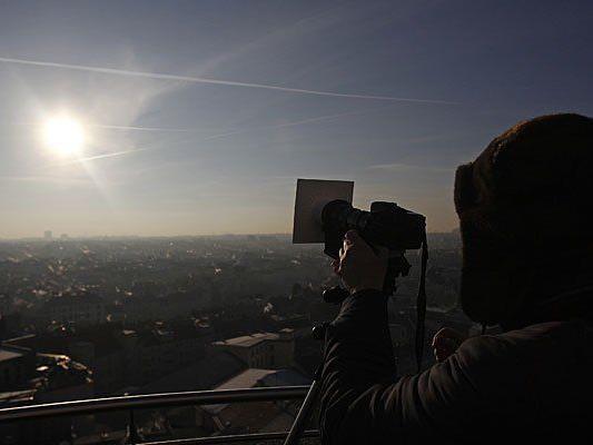 In Wien wird gut zu sehen sein, wie sich die Sonne verfinstert