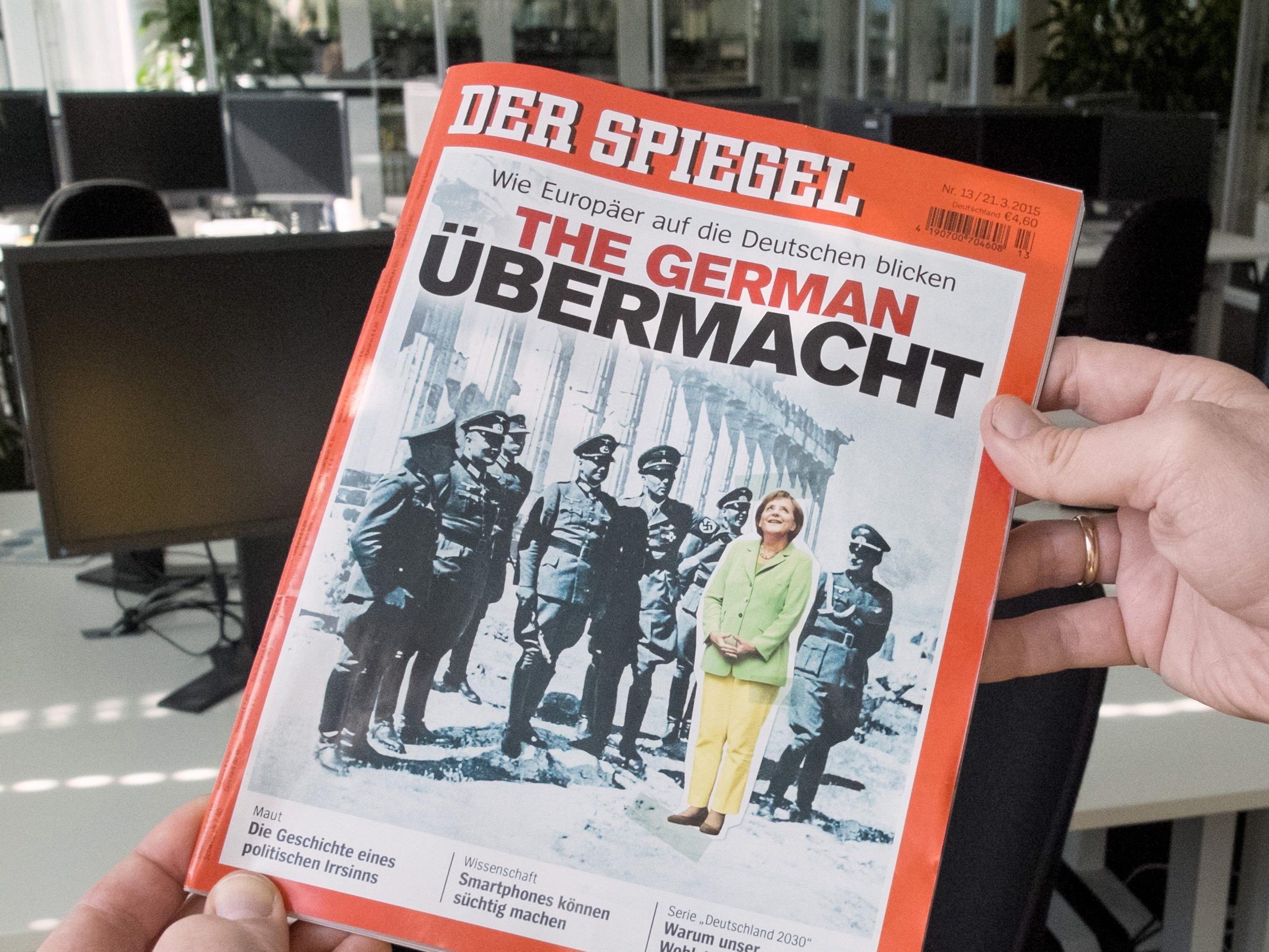 Merkel mit den Nazis auf der Akropolis. Darf der Spiegel das?