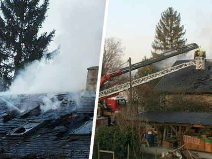 In der Nacht auf Montag stand ein Wohnhaus in Korneuburg in Brand.