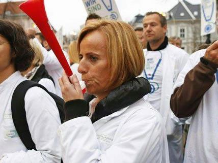 In Wien wollen die Ärzte am Montagabend demonstrieren.