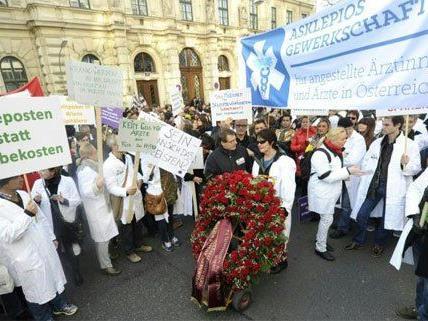 In Wien gingen die Ärzte nun auf die Straße.