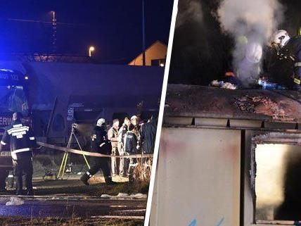 Brand in ausrangiertem Waggon - Zwei Obdachlose in Wien gestorben
