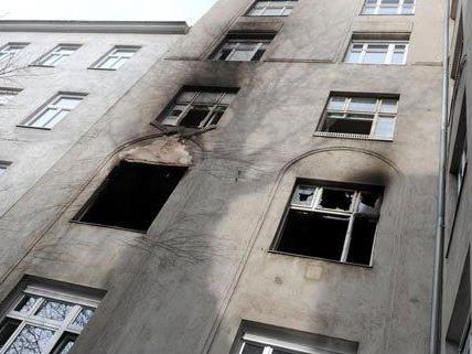 In dieser Wohnung in Wien-Mariahilf hat es gebrannt.