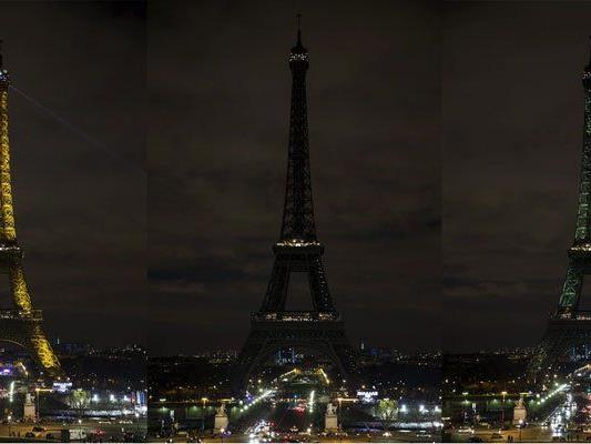 Auch am Eiffelturm in Paris wurden die Lichter abgedreht.