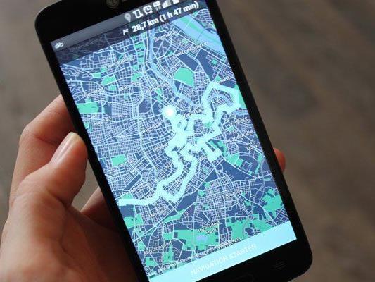 In der App werden unterschiedliche Strecken vorgeschlagen.