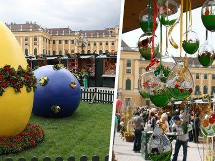 Am 21. März eröffnet der 13. Wiener Ostermarkt vor dem Schloss Schönbrunn.