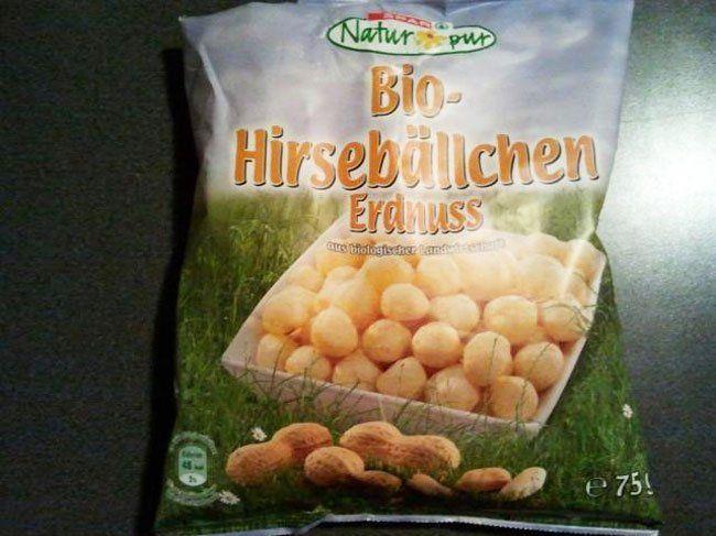 """Produktrückruf für """"Natur 150g"""" und """"Erdnuss 75g""""."""