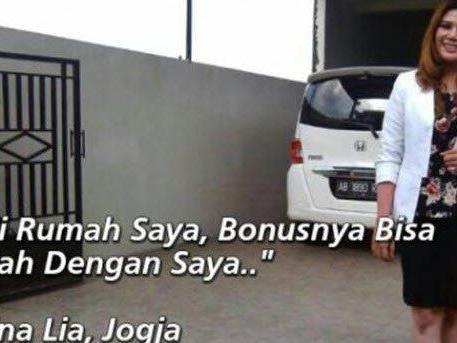 Indonesierien verkauft Haus - und sich. Online-Anzeige wird zum Klickhit.