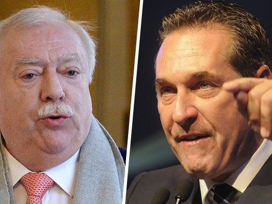 Häupl und Strache wollen beide den Bürgermeister-Posten.