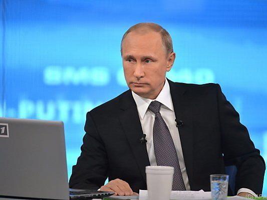 Russlands Präsident Putin in seiner TV-Fragestunde