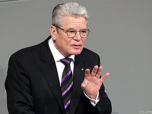 Gauck sprach klare Worte