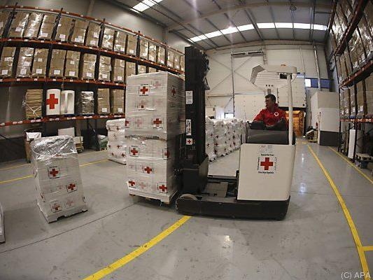 Der Transport der Hilfslieferungen hat begonnen