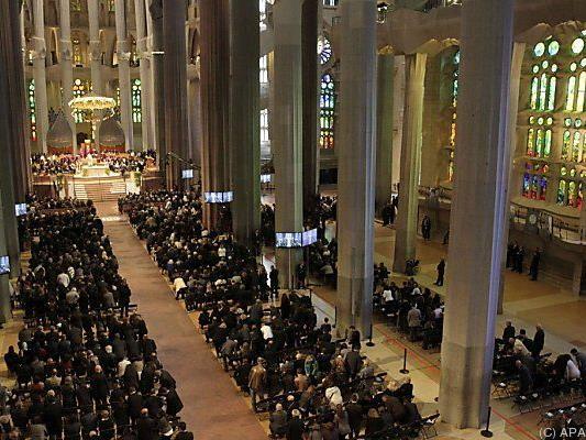 Offizielle Trauerfeier in der Sagrada Familia