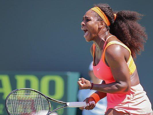 Serena Williams in gewohnter Pose