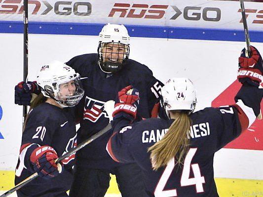US-Eishockey-Frauen im Glück