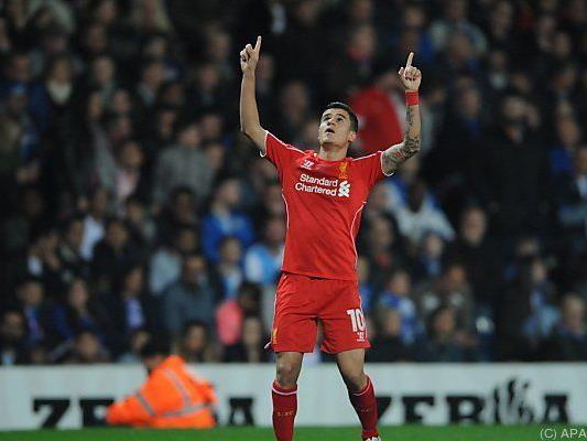 """Philippe Coutinho erzielte das erlösende Tor für die """"Reds"""""""