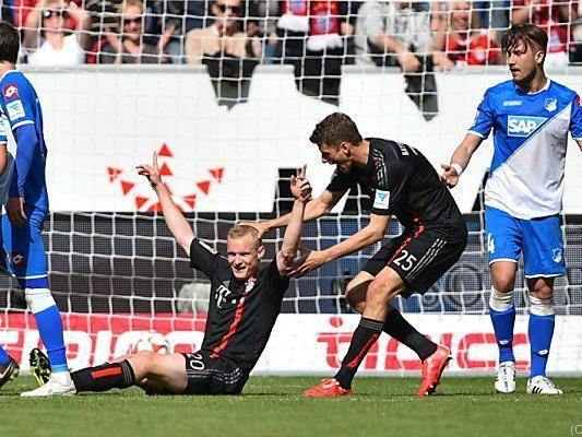 Sebastian Rode brachte die Bayern 1:0 in Führung