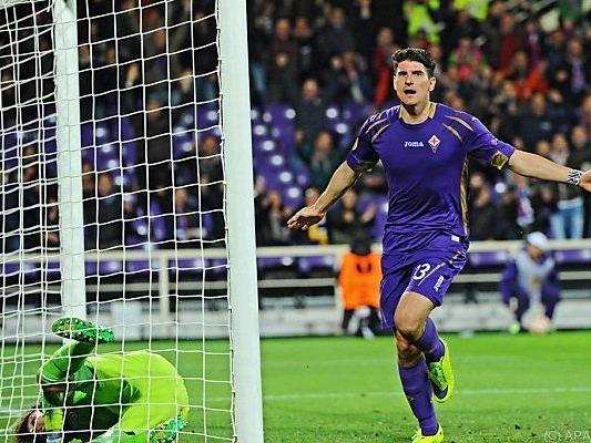 Mario Gomez brachte Fiorentina auf die Siegerstraße