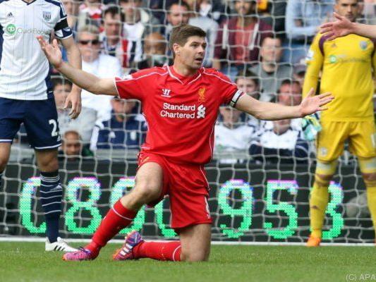Kein Erfolgserlebnis für Steven Gerrard in seiner 500. Liga-Partie